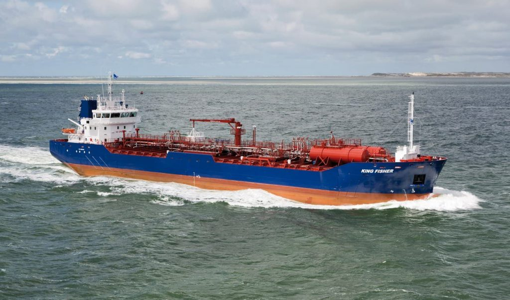 """Tankowiec Tanker 8000 """"King Fisher"""" o pojemności 7730 m3 przystosowany do przewozu ropy"""